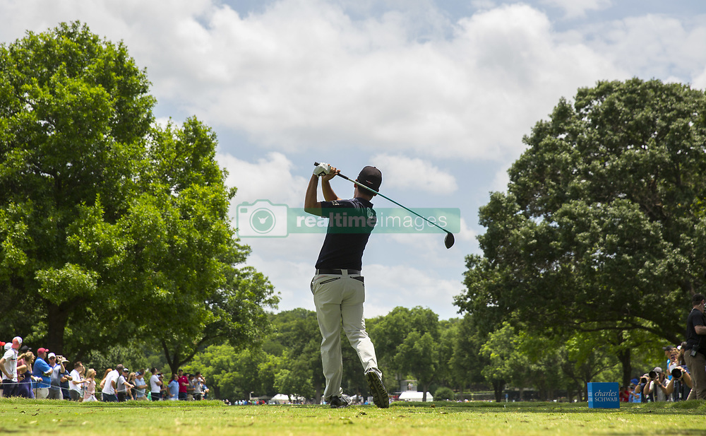 May 26, 2019 - Fort Worth, TX, USA - Kevin Na during the final round of the 2019 Charles Schwab Challenge PGA at Colonial Country Club. (Credit Image: © Erich Schlegel/ZUMA Wire)