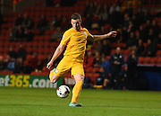 Preston North End defender Marnick Vermijl shoots at goal during the Sky Bet Championship match between Charlton Athletic and Preston North End at The Valley, London, England on 20 October 2015. Photo by David Charbit.