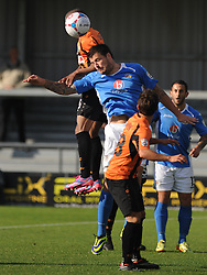 Barnets Curtis Weston Beats Eastleighs Craig McAllister, Barnet v Eastleigh, Vanarama Conference, Saturday 4th October 2014