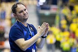 Branko Tamse, head coach of RK Celje Pivovarna Lasko during handball match between RK Celje Pivovarna Lasko (SLO) and SG Flensburg Handewitt (GER) in 12th Round of EHF Men's Champions League 2015/16, on February 20, 2016 in Arena Zlatorog, Celje, Slovenia. Photo by Urban Urbanc / Sportida
