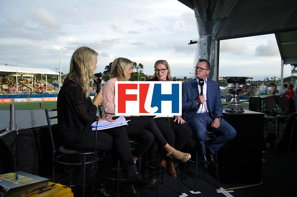 AUCKLAND - Sentinel Hockey World League final women<br /> Match id 10321<br /> Korea v England Bronze<br /> Foto:  TV interview Jason Mccracken<br /> WORLDSPORTPICS COPYRIGHT FRANK UIJLENBROEK