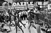"""Wendy Hillard Gymastics team perform in Times Square during """"Soltice in Times Square"""""""