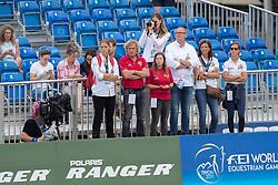 Team Belgium, Sjef Janssen, Jeroen Van Lent, Carmen Debondt, Fanny Verliefden<br /> World Equestrian Games - Tryon 2018<br /> © Hippo Foto - Dirk Caremans<br /> 13/09/2018