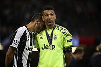 03.06.2017 - Cardiff - Finale di Champions League -  Juventus-Real Madrid nella  foto: Gianluigi Buffon e Leonardo Bonucci delusi