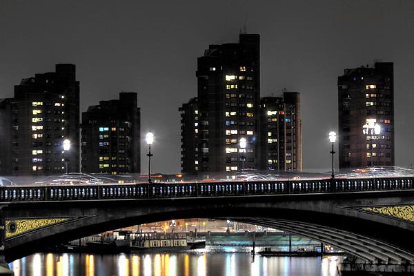 A Night Shot of Battersea Bridge London