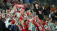 GEPA-26011050076 - INNSBRUCK,AUSTRIA,26.JAN.10 - SPORT DIVERS, HANDBALL - EHF Europameisterschaft, EURO 2010, Laenderspiel, Polen vs Tschechien. Bild zeigt Fans. Foto: GEPA pictures/ Thomas Bachun.FOT. GEPA / WROFOTO.*** POLAND ONLY !!! ***