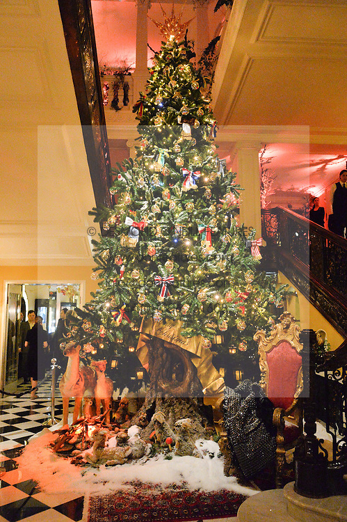 The 2014 Claridge's Christmas Tree by Dolce & Gabbana at a party to celebrate the unveiling of the 2014 Claridge's Christmas tree by Dolce & Gabbana at Claridge's, Brook Street, London on 19th November 2014.