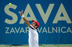 Adrian Menendez-Maceiras (ESP) in action during 1st Semifinal match at Day 8 of ATP Challenger Zavarovalnica Sava Slovenia Open 2018, on August 10, 2018 in Sports centre, Portoroz/Portorose, Slovenia. Photo by Vid Ponikvar / Sportida