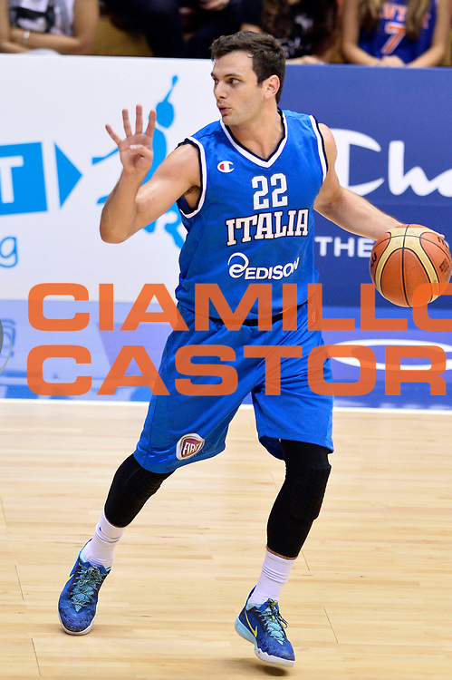DESCRIZIONE : Trieste Nazionale Italia Uomini Torneo internazionale Italia Canada Italy Canada<br /> GIOCATORE : Stefano Gentile<br /> CATEGORIA : Palleggio Schema<br /> SQUADRA : Italia Italy<br /> EVENTO : Torneo Internazionale Trieste<br /> GARA : Italia Canada Italy Canada<br /> DATA : 03/08/2014<br /> SPORT : Pallacanestro<br /> AUTORE : Agenzia Ciamillo-Castoria/GiulioCiamillo<br /> Galleria : FIP Nazionali 2014<br /> Fotonotizia : Trieste Nazionale Italia Uomini Torneo internazionale Italia Canada Italy Canada