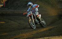 Mantova , 110207 , Starcross Seasonopener  Erstes Kraeftemessen der internationalen Motocrosselite beim Starcross in Mantova.  Maximilian NAGL (KTM ,GER)