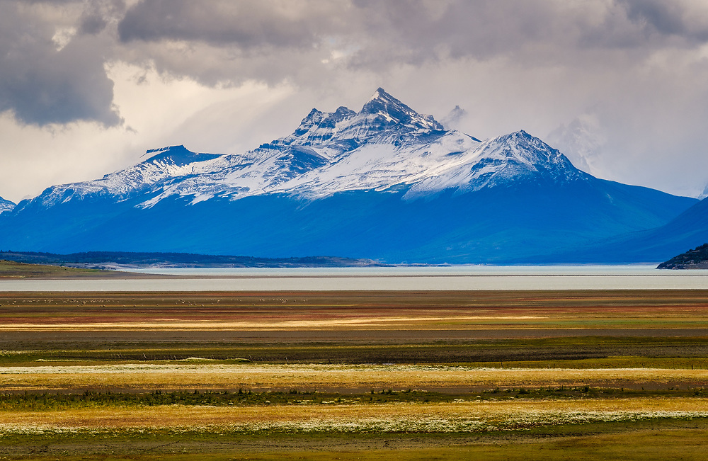 NATIONAL PARK LOS GLACIARES, ARGENTINA - CIRCA FEBRUARY 2019: Landscape around National Park los Glaciares in Argentina.