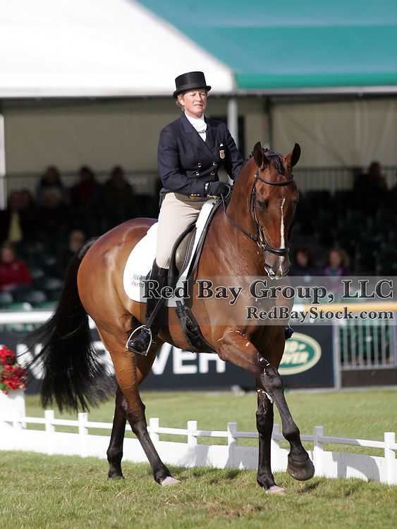 Missy Ransehousen (USA) and Critical Decision at the 2011 Land Rover Burghley Horse Trials in Stamford, UK.