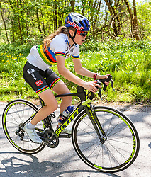 25.04.2018, Innsbruck, AUT, ÖRV Trainingslager, UCI Straßenrad WM 2018, im Bild Laura Stigger (AUT) // during a Testdrive for the UCI Road World Championships in Innsbruck, Austria on 2018/04/25. EXPA Pictures © 2018, PhotoCredit: EXPA/ JFK
