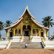 Haw Pha Bang (or Palace Chapel) at the Royal Palace Museum in Luang Prabang, Laos. The chapel sits at the northeastern corner of the grounds. Construction started in 1963.