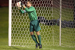 Virginia Cavaliers GK Ryan Burke (1) in action against Clemson.  The Virginia Cavaliers Men's Soccer Team defeated the Clemson Tigers 2-0 in the ACC Tournament, Quarterfiles Round, on November 1, 2006 at the Maryland Soccerplex in Germantown, MD.