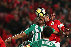 February 3, 2018 - Lisbon, Portugal - Rio Ave's defender Marcao heads the ball during the Portuguese League football match SL Benfica vs Rio Ave FC at the Luz stadium in Lisbon on February 3, 2018. (Credit Image: © Pedro Fiuza/NurPhoto via ZUMA Press)