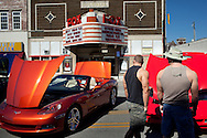 A car show lined Broadway in Pittsburg, Kansas as part of Little Balkans Days, Sep. 4, 2010.