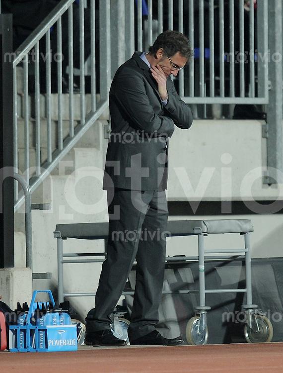 FUSSBALL   INTERNATIONAL  EURO Qualifikation 2012   09.02.2011 Luxemburg - Frankreich   Trainer Laurent BLANC (Frankreich)