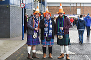 Scotland fans before the 2018 Autumn Test match between Scotland and Fiji at Murrayfield, Edinburgh, Scotland on 10 November 2018.