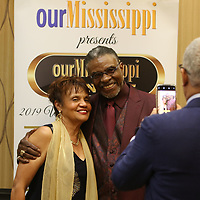 Award-winning actor Keith David poses for a picture with Gloria Holliday Saturday evening at his meet and greet before the Our Mississippi Honors Gala where he was the special guest