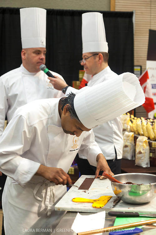 Competitor Dimuthu Perera. World Chocolate Masters Canadian Selection, January 20, 2013.