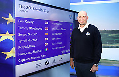 Team Europe Ryder Cup Wildcard Announcement - 05 Sept 2018