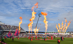 Lancashire Lightning and Worcestershire Rapids take to the field during the Vitality T20 Blast Semi Final match on Finals Day at Edgbaston, Birmingham.