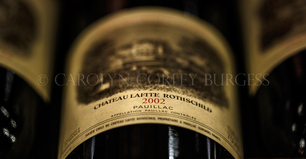 Chateau Lafite Rothschild, wine bottle, commercial photography, French wine