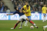 FOOTBALL - FRIENDLY GAME 2010/2011 - FRANCE v BRAZIL - 9/02/2011 - PHOTO JEAN MARIE HERVIO / DPPI - YOANN GOURCUFF (FRA) / ANDRE SANTOS (BRA)