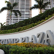 Trump Plaza condominiums on Flagler Drive in West Palm Beach.<br /> Photography by Jose More