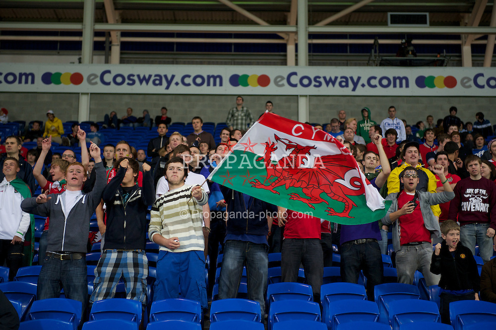 CARDIFF, WALES - Wednesday, August 10, 2011: Wales' supporters during an International Friendly match against Australia at the Cardiff City Stadium. (Photo by David Rawcliffe/Propaganda)