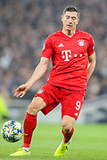 Bayern Munich forward Robert Lewandowski (9) during the Champions League match between Tottenham Hotspur and Bayern Munich at Tottenham Hotspur Stadium, London, United Kingdom on 1 October 2019.