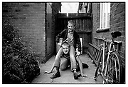 Neville and friend, 1980s.