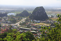 Looking out over the countryside surround Nhuy Son Mountain near Da Nang, Vietnam