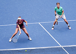 WUHAN, Sept. 28, 2018  Elise Mertens (L) of Belgium and Demi Schuurs of the Netherlands compete during the doubles semifinal match against Shuko Aoyama of Japan and Lidziya Marozava of Belarus at the 2018 WTA Wuhan Open tennis tournament in Wuhan, central China's Hubei Province, on Sept. 28, 2018. Elise Mertens and Demi Schuurs won 2-1. (Credit Image: © Song Zhenping/Xinhua via ZUMA Wire)