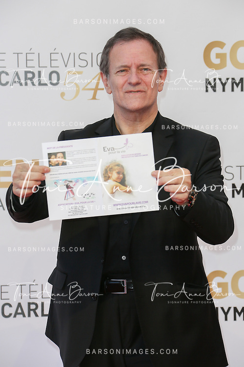 MONTE-CARLO, MONACO - JUNE 11:  Francis Huster attends the Closing Ceremony and Golden Nymph Awards of the 54th Monte Carlo TV Festival on June 11, 2014 in Monte-Carlo, Monaco.  (Photo by Tony Barson/FilmMagic)