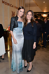 Left to right, AMBER LE BON and MONICA VINADER at a party to celebrate the launch of the Monica Vinader London Flagship store at 71-72 Duke of York Square, London SW3 on 4th December 2014.