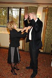 ELAINE PAIGE and SIR TIM RICE at a tribute lunch for Elaine Paige hosted by the Lady Taverners at The Dorchester, Park Lane, London on 13th November 2007.<br /><br />NON EXCLUSIVE - WORLD RIGHTS