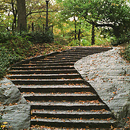 Stairs to Summit Rock in Central Park