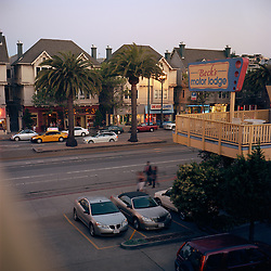 Market Street from the 3rd floor balcony of Beck's Motor Lodge at dusk, San Francisco May 16, 2009