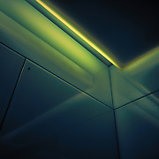 An abstract of a lift interior.