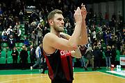 Vene Siim-Sander<br /> De'Longhi Treviso vs Openjobmetis Varese<br /> Legabasket SerieA 2019-2020<br /> Treviso (TV), 05/01/2020<br /> Foto  Ciamillo-Castoria <br /> Esultanza