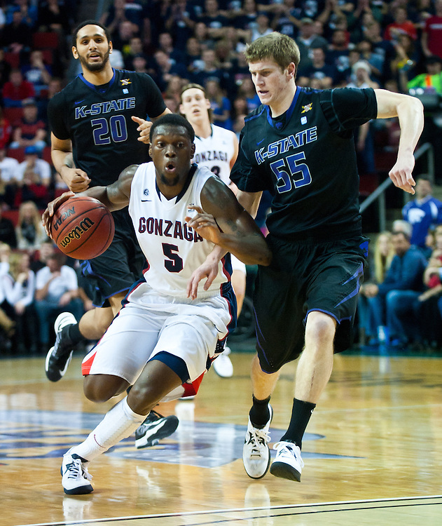 2012 Gonzaga Men's Basketball Battle in Seattle. Photo by Austin Ilg