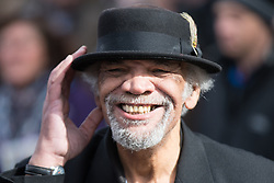 © Licensed to London News Pictures. 28/03/2018. Liverpool, UK. The actor PAUL BARBER ( aka Patrick Barber) leaves Liverpool Cathedral after the service . The funeral of comedian and performer Sir Ken Dodd , who died on 11th March 2018 at the age of 90 . Photo credit: Joel Goodman/LNP