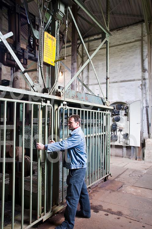 Förderturm, Ottiliae Schacht, Clausthal-Zellerfeld, Harz, Niedersachsen, Deutschland | mining plant museum Ottiliae Schacht, Clausthal-Zellerfeld, Harz, Lower Saxony, Germany