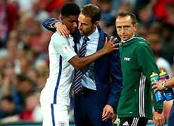 England Manager Gareth Southgate hugs Marcus Rashford of England - Mandatory by-line: Robbie Stephenson/JMP - 04/09/2017 - FOOTBALL - Wembley Stadium - London, United Kingdom - England v Slovakia - 2018 FIFA World Cup Qualifier