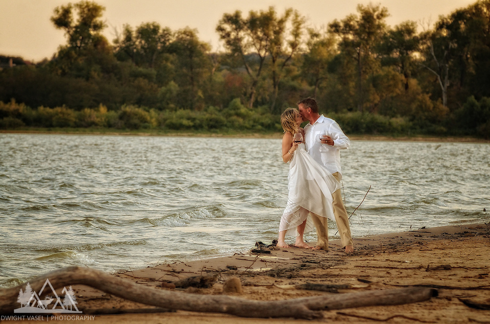 Joyce and Mike engagement photo session at Lake Grapevine.  Wine, flowers, beach, boat, sunset and romnace.  Awesome session