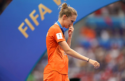 Netherlands' Jackie Groenen appears dejected after the final whistle