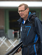 Amsterdam. NETHERLANDS.  Finnish Coach, Pertti KARPPINEN. Tuesday morning training, wet and misty. 2014 World Rowing Champions . 09:02:02  Tuesday  DATE}  [Mandatory Credit; Peter Spurrier/Intersport-images]