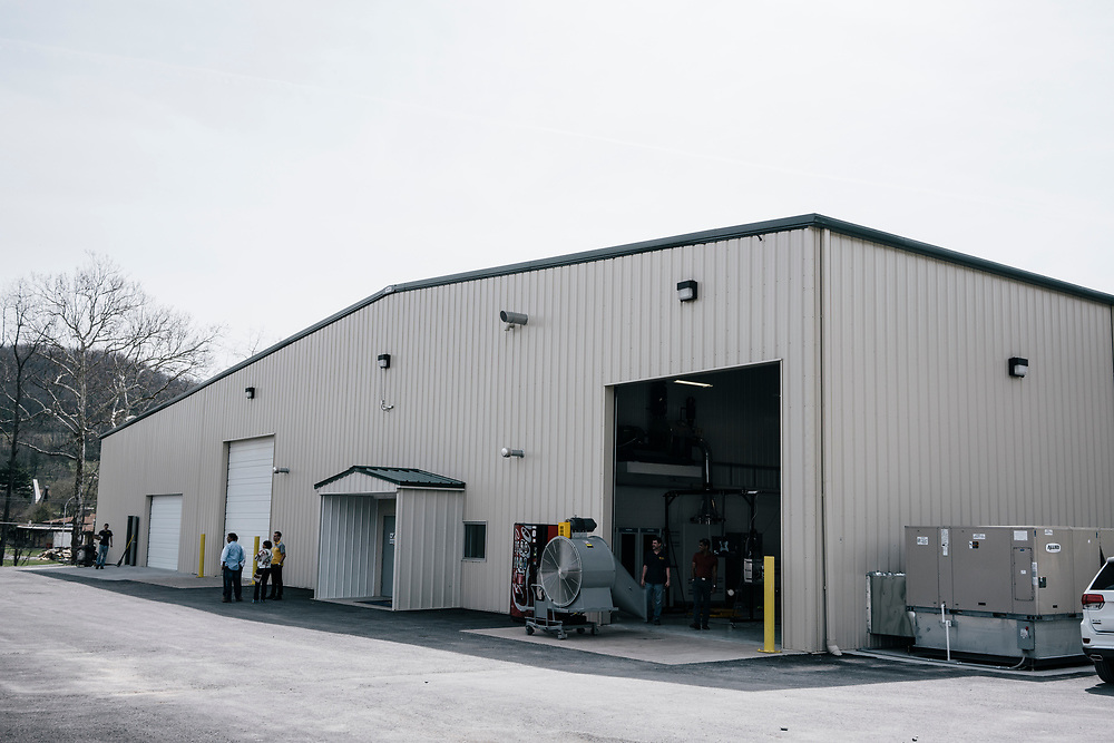 West Virginia University's Center for Alternative Fuels Engines and Emissions vehicle emissions testing laboratory in Morgantown, WV on April 10, 2017.